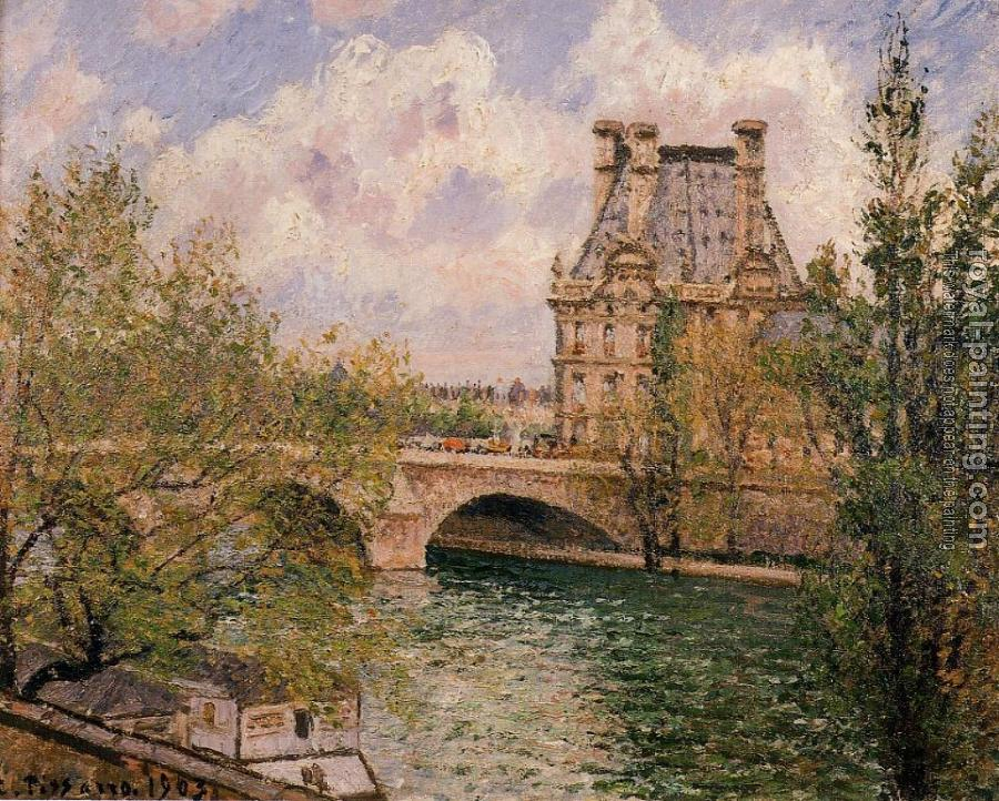 Camille Pissarro : The Pavillion de Flore and the Pont Royal