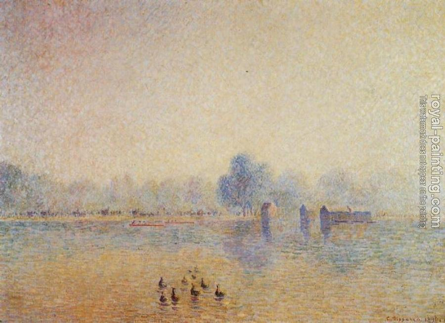 Camille Pissarro : The Serpentine, Hyde Park, Fog Effect