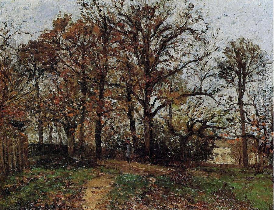 Camille Pissarro : Trees on a Hill, Autumn, Landscape in Louveciennes