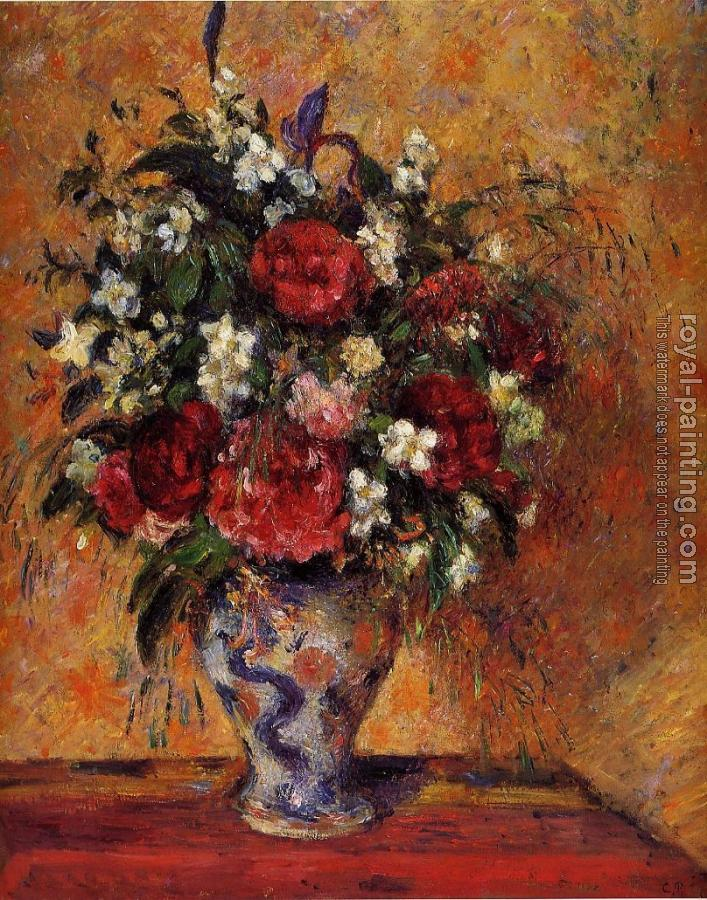 Camille Pissarro : Vase of Flowers