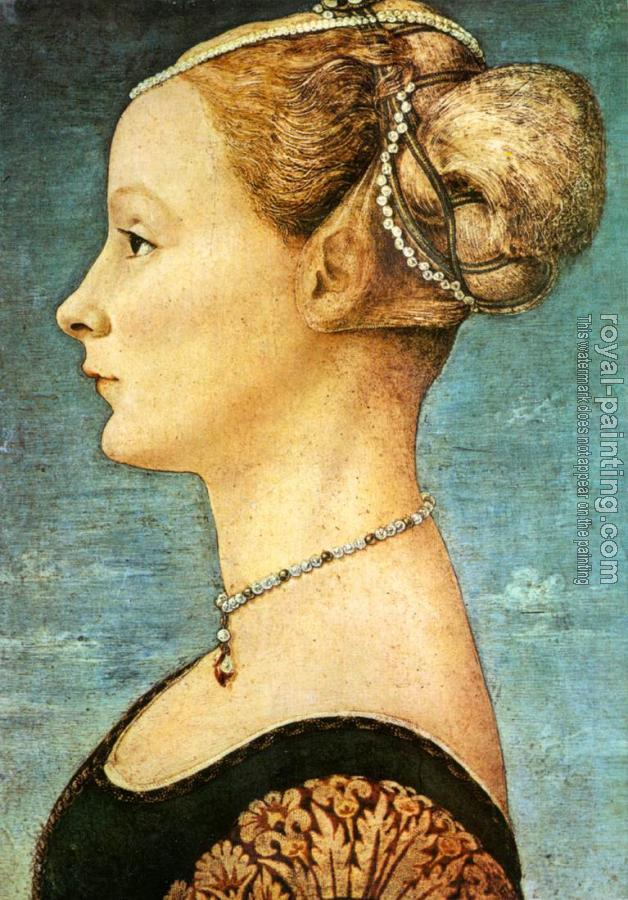 Antonio Del Pollaiolo : Portrait of a Girl