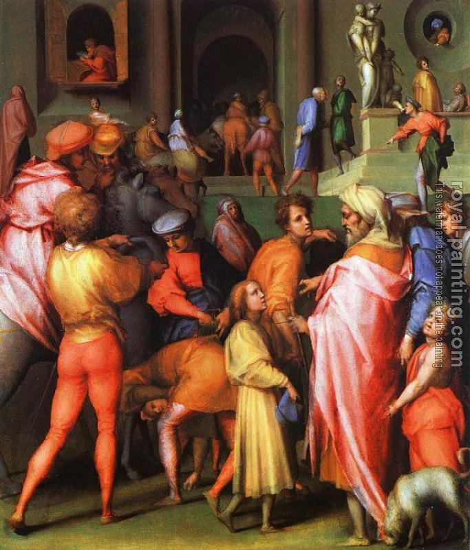 Jacopo Da Pontormo : Joseph being Sold to Potiphar