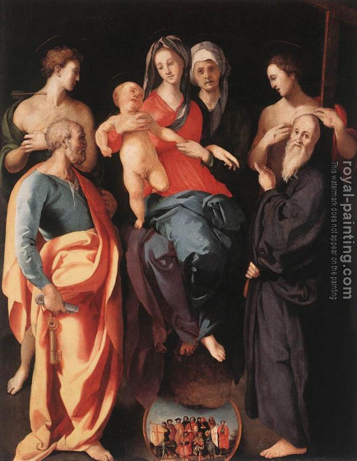 Jacopo Da Pontormo : Madonna And Child With St Anne And Other saints
