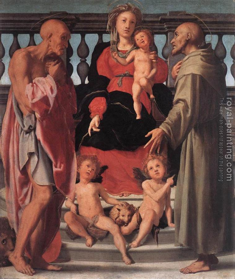 Jacopo Da Pontormo : Madonna And Child With Two Saints