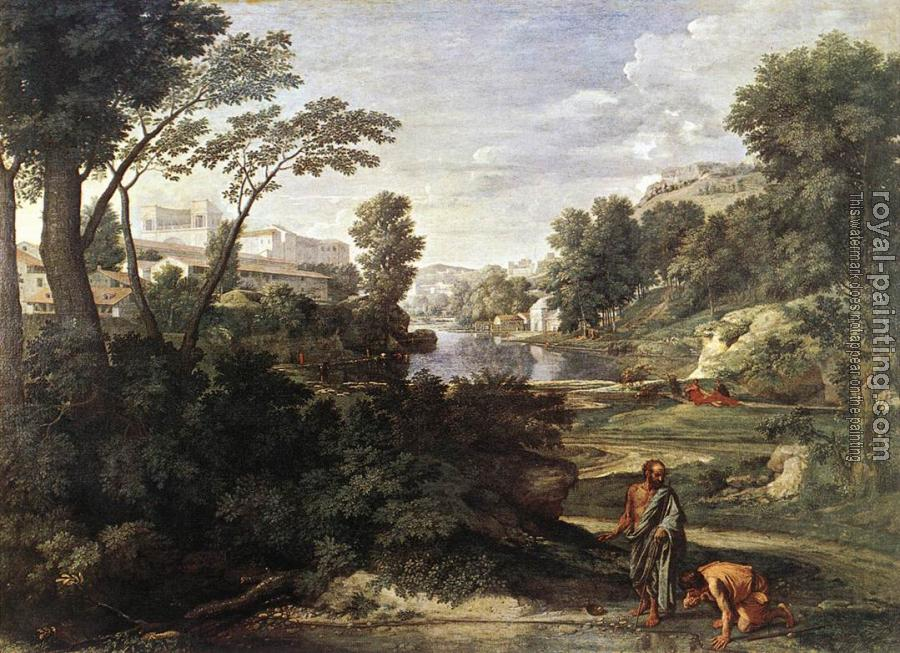Nicolas Poussin : Landscape with Diogenes