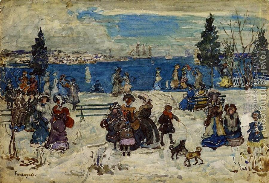 Maurice Brazil Prendergast : April Snow, Salem