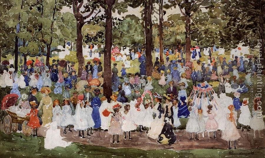 Maurice Brazil Prendergast : May Day, Central Park III