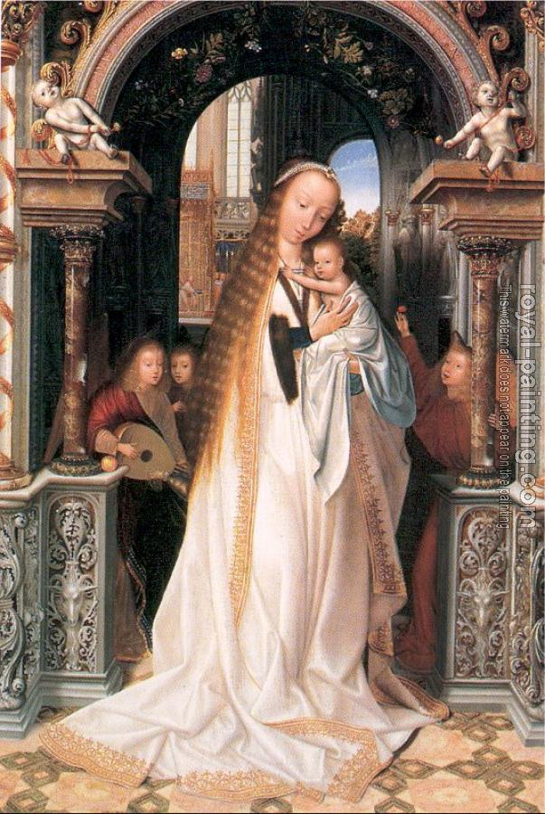 Quentin Massys : Virgin and Child Surrounded by Angels