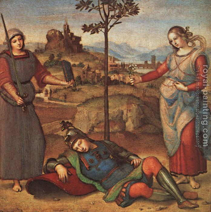 Raphael : Allegory, The Knight's Dream