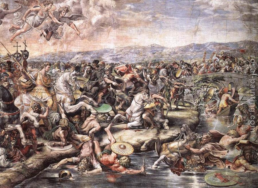 Raphael : The Battle at Pons Milvius, detail