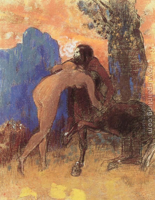 Odilon Redon : Struggle between Woman and Centaur
