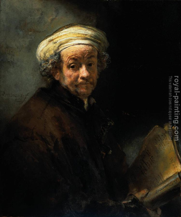 Rembrandt : Self Portrait as the Apostle St Paul