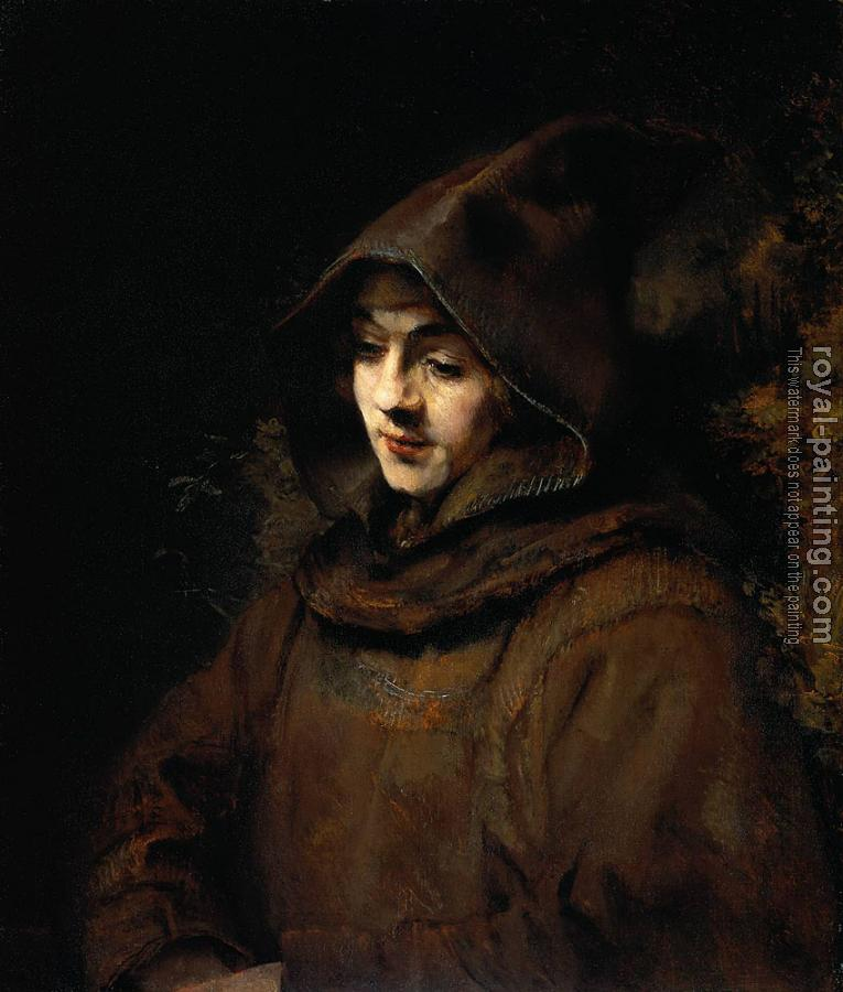 Rembrandt : Rembrandt's son Titus, as a monk