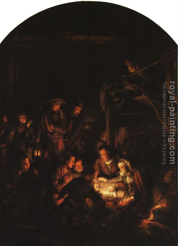 Rembrandt : The Adoration of the Shepherds