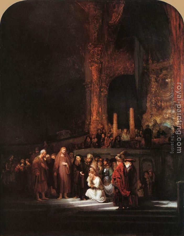 Rembrandt : The Woman taken in Adultery