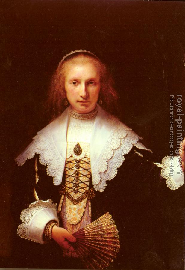 Rembrandt : Portrait of Agatha Bas II