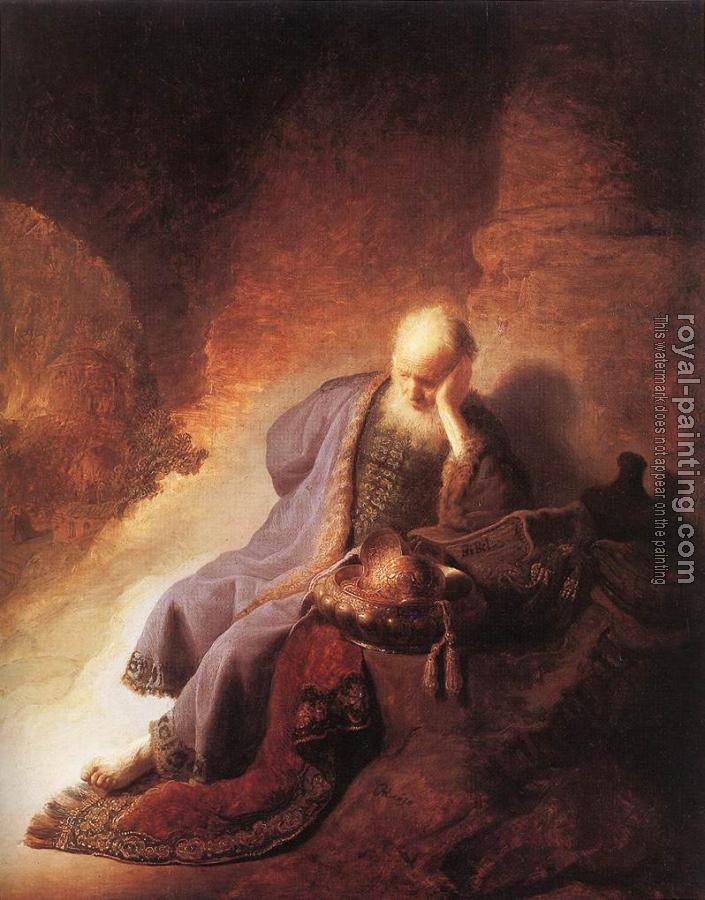Rembrandt : Jeremiah Lamenting the Destruction of Jerusalem