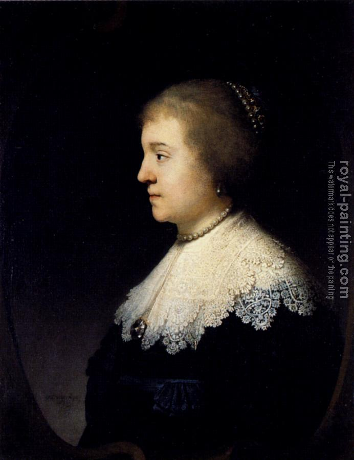 Rembrandt : Portrait of Amalia van Solms