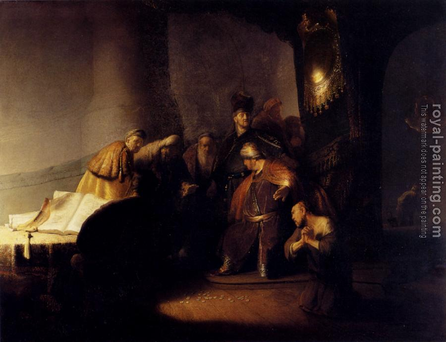 Rembrandt : Judas returning the thirty silver pieces