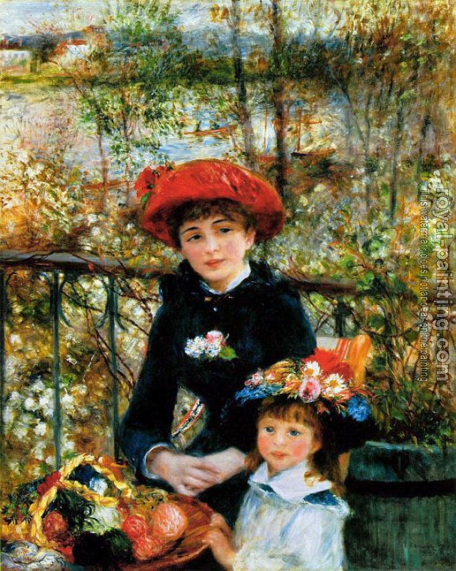 Pierre Auguste Renoir : Two Sisters on the Terrace