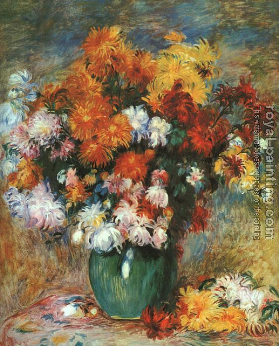 Pierre Auguste Renoir : Vase of Chrysanthemums