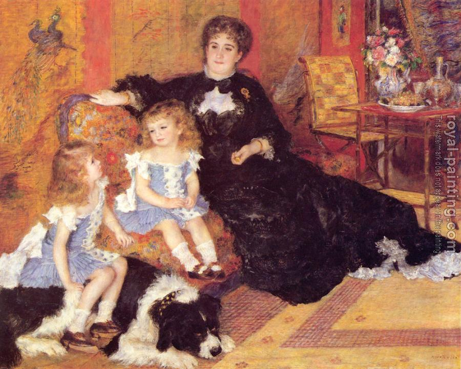 Pierre Auguste Renoir : Madame Georges Charpentier and her Children, Georgette and Paul