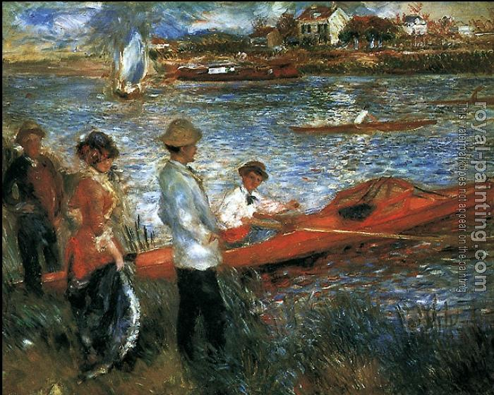 Pierre Auguste Renoir : Photo of painting Oarsemen at Chatou