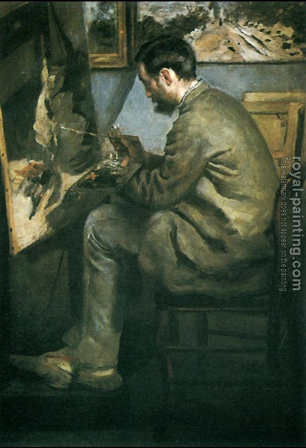 Pierre Auguste Renoir : Frederic Bazille at His Easel