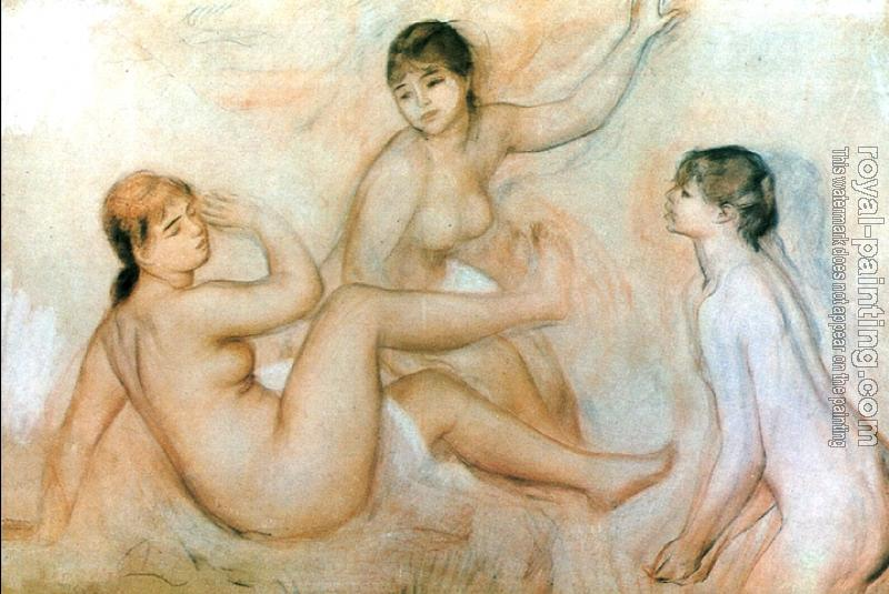 Pierre Auguste Renoir : hree Bathers by the Water