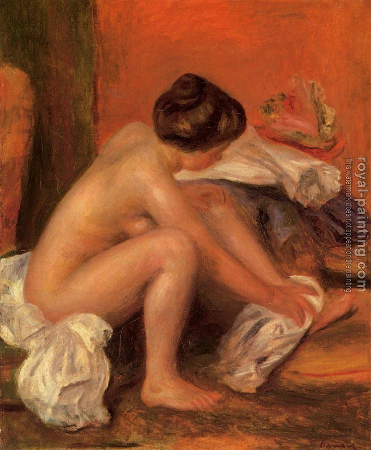 Pierre Auguste Renoir : Bather Drying Her Feet