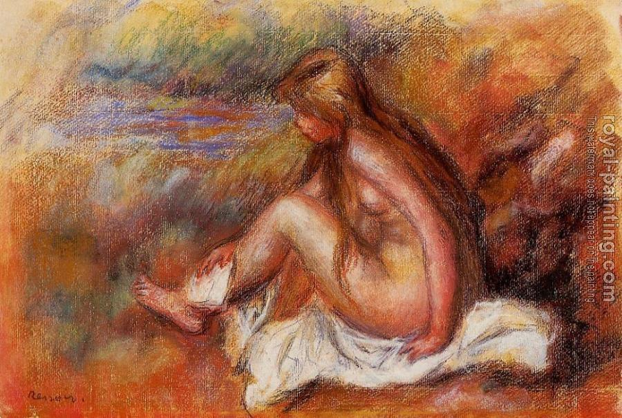 Pierre Auguste Renoir : Bather Seated by the Sea