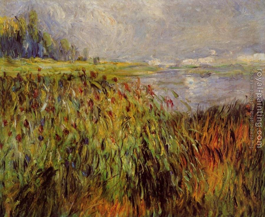 Pierre Auguste Renoir : Bulrushes on the Banks of the Seine