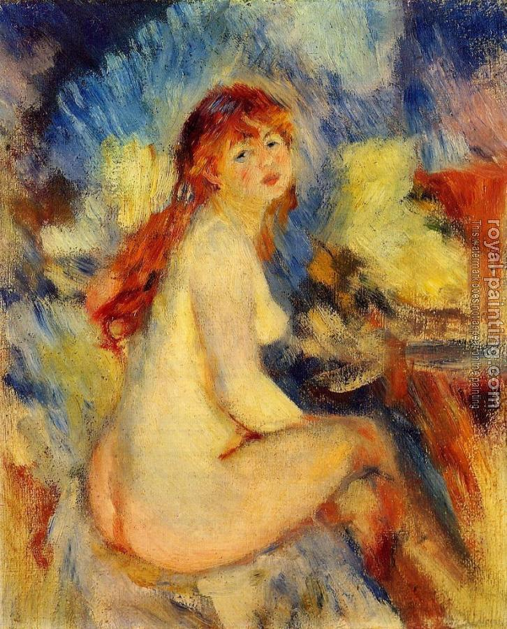 Pierre Auguste Renoir : Bust of a Nude Female