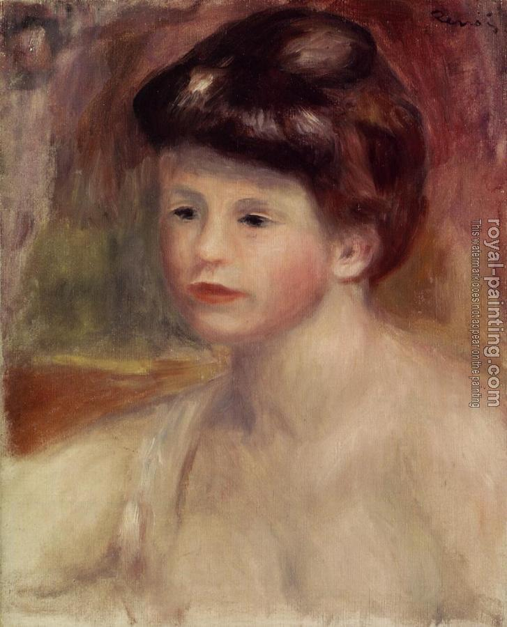 Pierre Auguste Renoir : Bust of a Young Woman