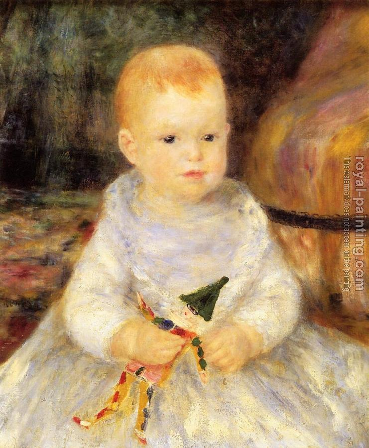 Pierre Auguste Renoir : Child with Punch Doll
