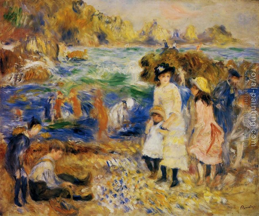 Pierre Auguste Renoir : Children by the Sea in Guernsey