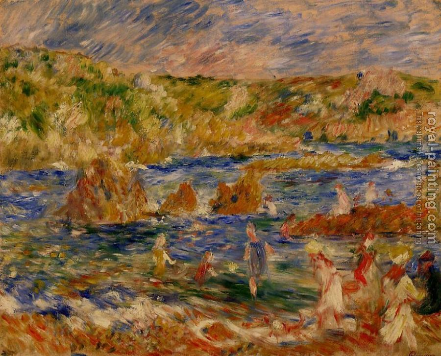 Pierre Auguste Renoir : Children on the Beach at Guernsey