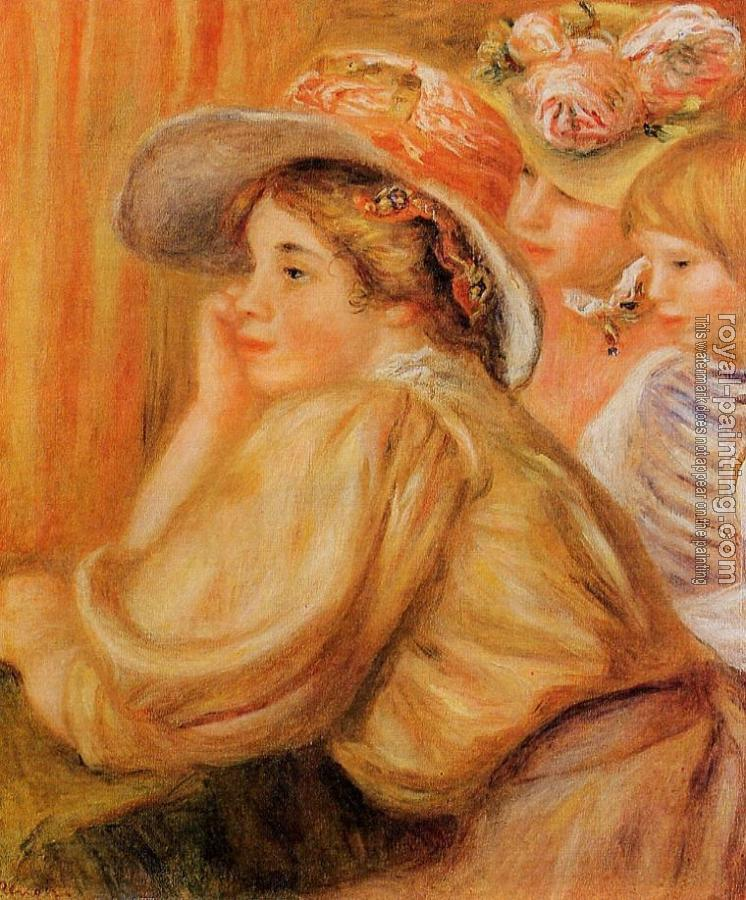 Pierre Auguste Renoir : Coco and Two Servants