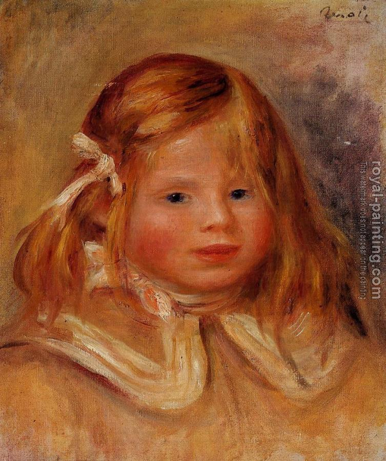 Pierre Auguste Renoir : Coco in a Red Ribbon