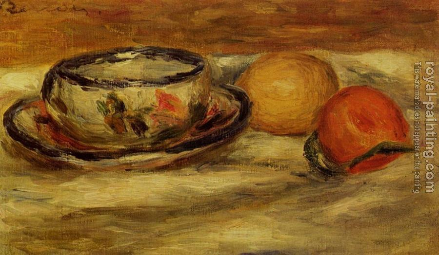 Pierre Auguste Renoir : Cup, Lemon and Tomato