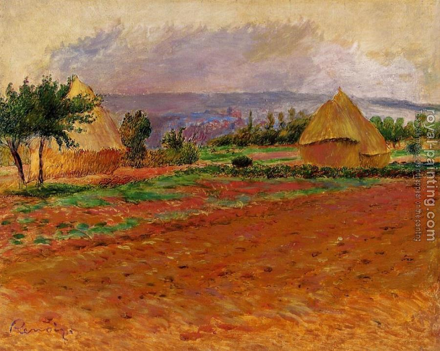 Pierre Auguste Renoir : Field and Haystacks