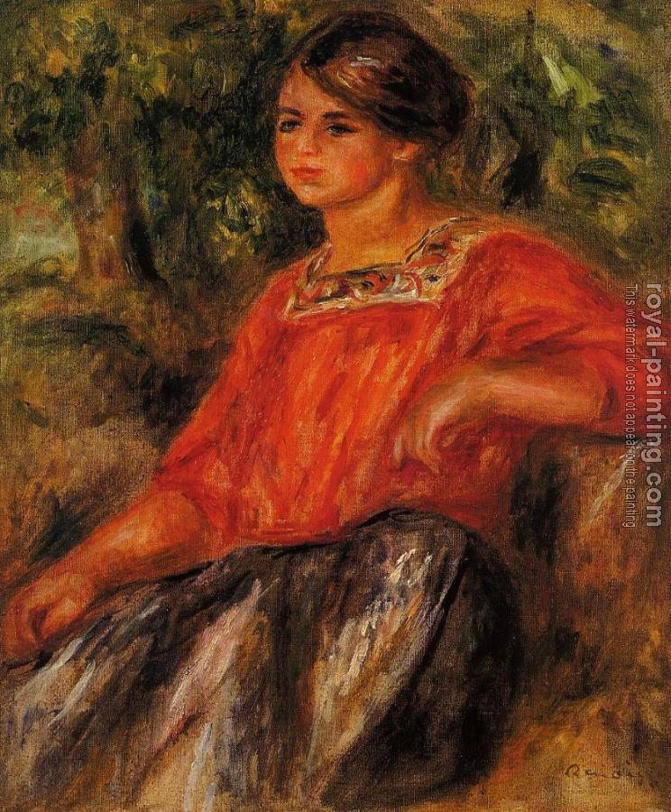 Pierre Auguste Renoir : Gabrielle in the Garden at Cagnes
