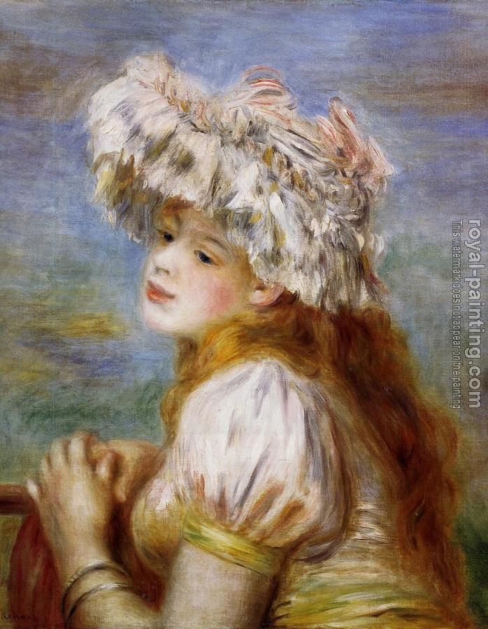 Pierre Auguste Renoir : Girl in a Lace Hat