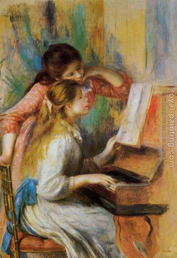 Pierre Auguste Renoir : Girls at the Piano II
