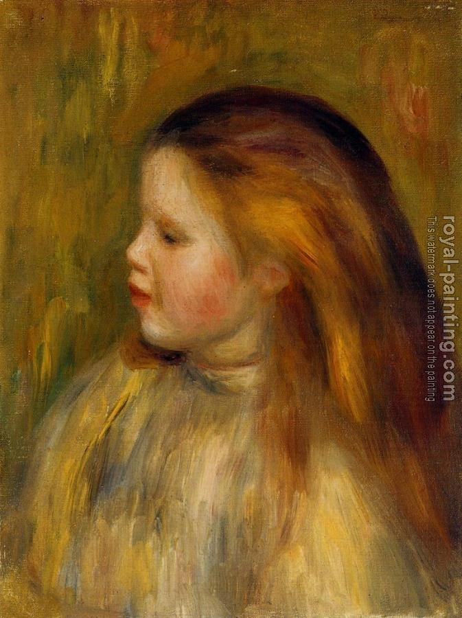 Pierre Auguste Renoir : Head of a Little Girl in Profile