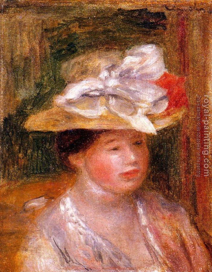 Pierre Auguste Renoir : Head of a Woman III