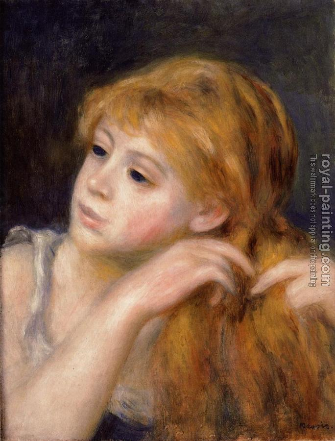 Pierre Auguste Renoir : Head of a Young Woman III