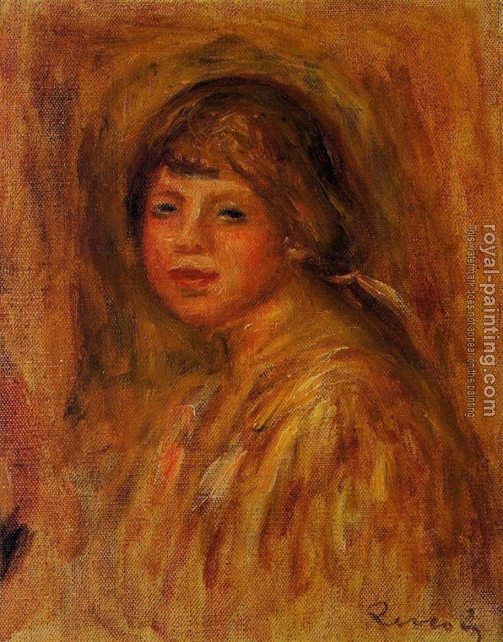 Pierre Auguste Renoir : Head of a Young Woman V