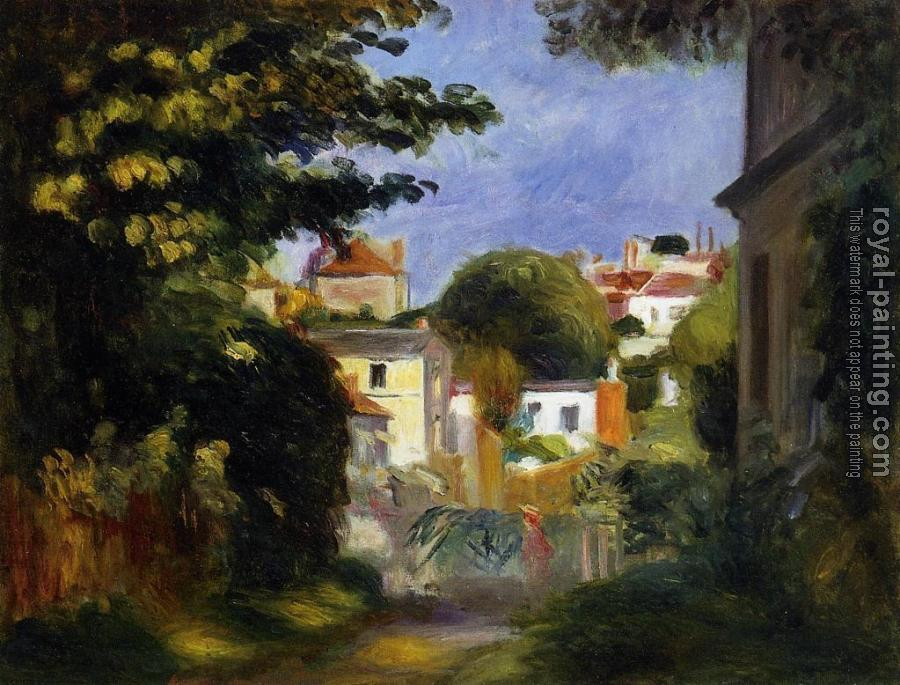Pierre Auguste Renoir : House and Figure among the Trees