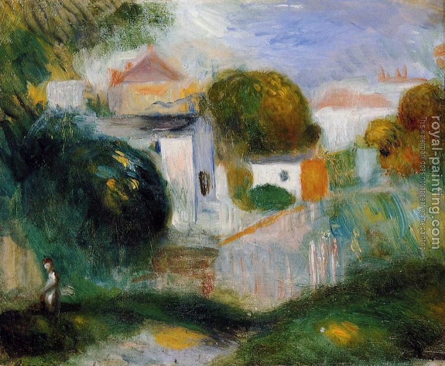 Pierre Auguste Renoir : Houses in the Trees